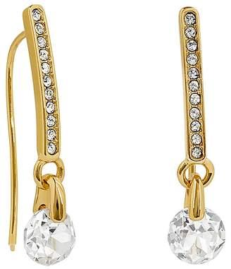 Adore Linear Pavé & Cubic Zirconia Drop Earrings