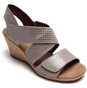 Rockport Cobb Hill Janna Cross Strap Wedge Sandal