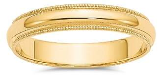 Bloomingdale's Men's 4mm Milgrain Half Round Wedding Band 14K Yellow Gold - 100% Exclusive