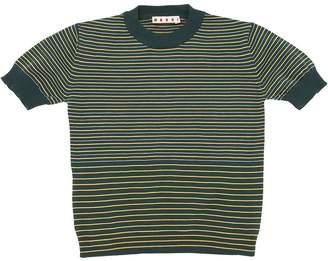 Marni Junior Striped Cotton Knit T-Shirt