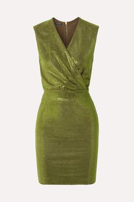 Balmain Crystal-embellished Stretch-jersey Mini Dress - Green