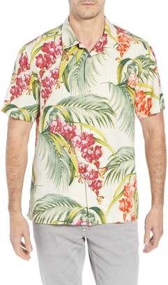 Tommy Bahama Hana Lei Fronds Short Sleeve Silk Sport Shirt