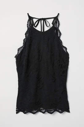 H&M Sleeveless Lace Top - Black