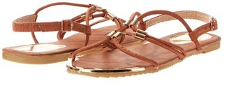 Victoria K Women's Gladiator Sandals with Gold Embellishments