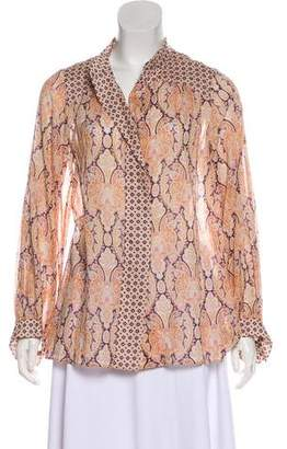 Louis Vuitton Printed Long Sleeve Top