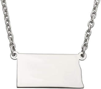 Dakota FINE JEWELRY Personalized Sterling Silver North Pendant Necklace