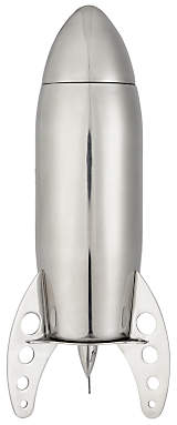 John Lewis & Partners Stainless Steel Rocket Cocktail Shaker, 700ml