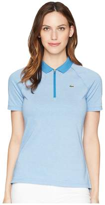 Lacoste Jersey Caviar Golf Performance Polo Women's Clothing