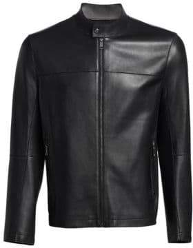 Saks Fifth Avenue MODERN BONDED LEATHER JACKET