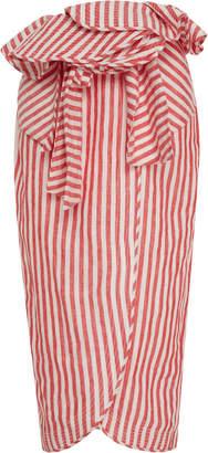 Johanna Ortiz Mil Rayas Linen Skirt