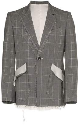 Sulvam checkered short wool jacket