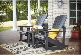 Beachcrest Home Alanna Plastic Rocking Adirondack Chair