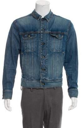Rag & Bone Distressed Denim Trucker Jacket