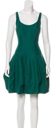 Halston Mini Flared Dress