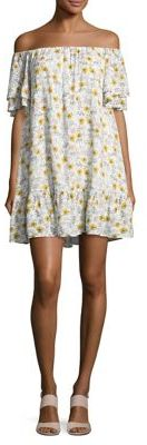 BUFFALO David Bitton Floral Off-the-Shoulder Dress