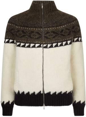 Saint Laurent Knitted Jacquard Jacket