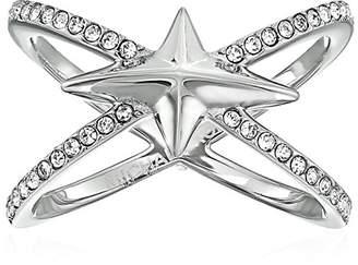 Michael Kors Brilliance Starburst Pave -Tone Open Ring