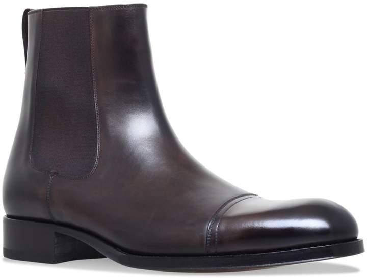 TOM FORD Edgar Chelsea Boots, Brown, UK 10