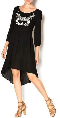 Double Zero Black Gauze Dress