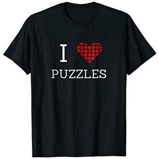 I Love Heart Jigsaw Puzzles Hobby T-Shirt