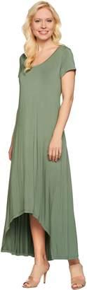 Halston H By H by Regular Hi-Low Hem Knit Maxi Dress