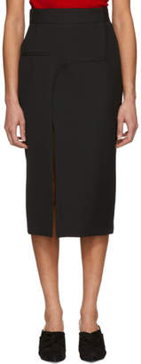 Haider Ackermann Black Asymmetric Calder Midi Skirt