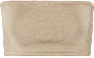 Balmain - Stretch-knit Bandeau Top - Sand $340 thestylecure.com