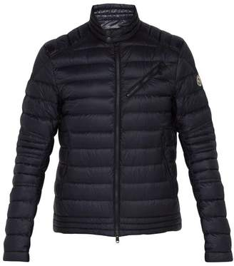 Moncler Royat Quilted Shell Down Biker Jacket - Mens - Navy