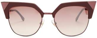 Fendi Cat-eye metal and acetate sunglasses