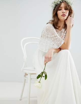 Asos Edition EDITION Maxi Wedding Dress with Embellished Crop Top
