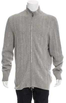 Hermes Cashmere Zip-Front Sweater