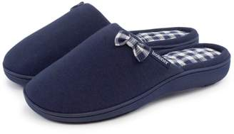 Isotoner Ladies Gingham Mule Slippers