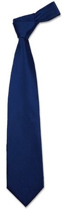 Forzieri Solid Navy Blue Extra-Long Tie