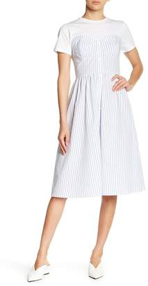 ENGLISH FACTORY Striped Twofer Dress