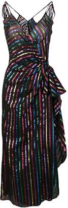 ATTICO striped midi dress