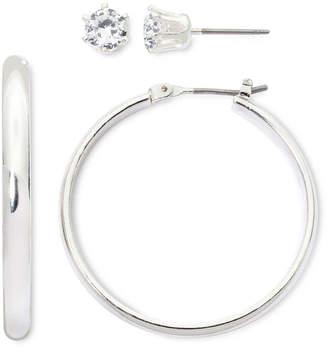 MIXIT Mixit Hoop & Cubic Zirconia Stud 2-pr. Earring Set