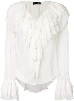 Twin-Set draped ruffle blouse