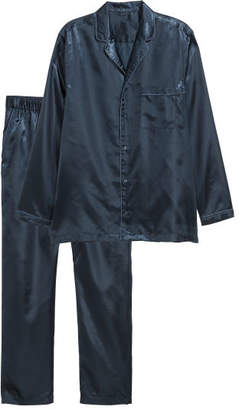 H&M Satin Pajamas - Blue