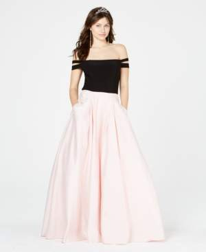 Blondie Nites Juniors' Double-Strap Gown, Created for Macy's