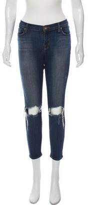 J Brand Misfit Capri Low-Rise Jeans