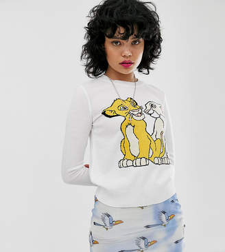 Simba Asos Design Disney The Lion King x ASOS DESIGN knitted jumper with and Nala
