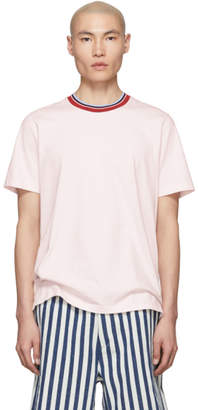 Marni Pink Striped Collar T-Shirt