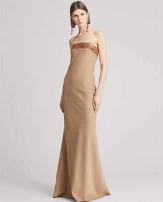 Ralph Lauren Thea Camel-Hair Evening Dress