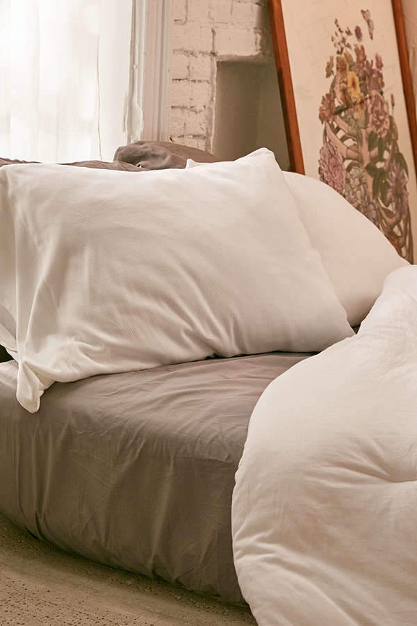 Faded Ribbed Jersey Pillowcase Set