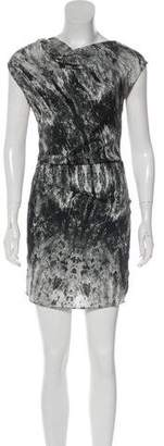 Helmut Lang Silk-Blend Sleeveless Dress