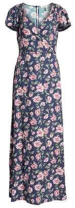 Rowa Row A Floral Maxi Dress