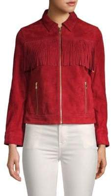 Zadig & Voltaire Kioly Fringed Suede Jacket