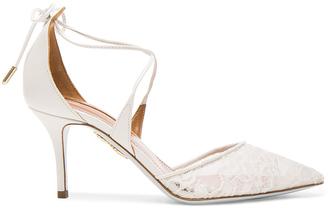 Aquazzura Lace Matilde Bridal Heels $765 thestylecure.com