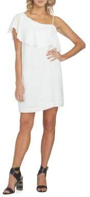 1 STATE 1.STATE One Shoulder Ruffled Shift Dress