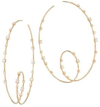 Lana 14K Gold & Diamond Loop Hoop Earrings
